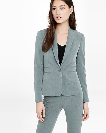 gray 24 inch one button jacket