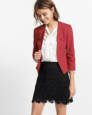Express Womens Cutaway Jacket Red 00