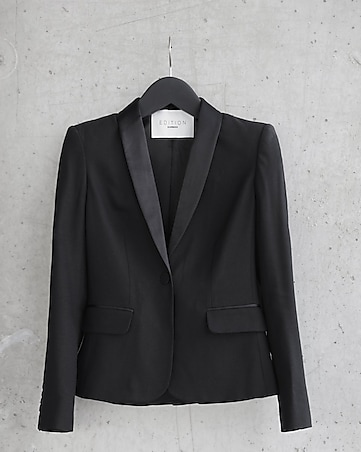 express edition one button tuxedo jacket