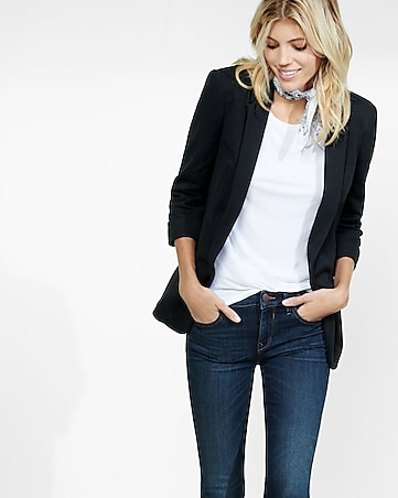 black soft boyfriend blazer