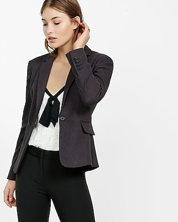 24 inch dotted tweed blazer
