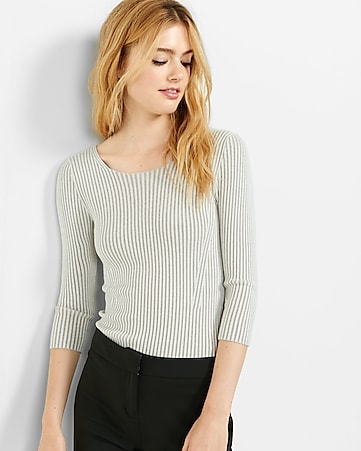 plaited crisscross open back sweater