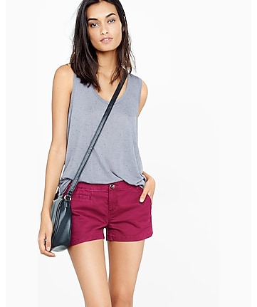 berry twill trouser pocket short shorts