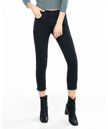 black twill cropped legging