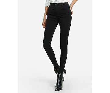black high waisted stretch twill legging