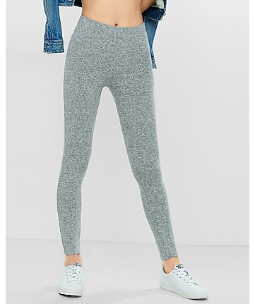 light gray plush jersey legging