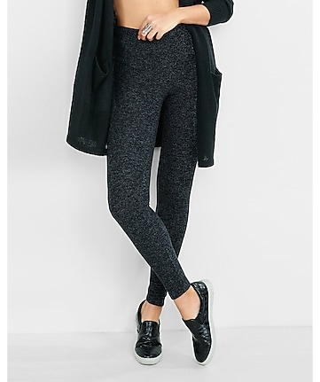 dark gray plush jersey legging