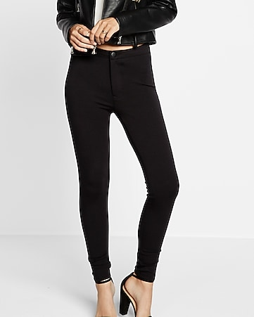 black high waisted ponte knit legging