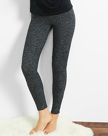express one eleven plush jersey leggings
