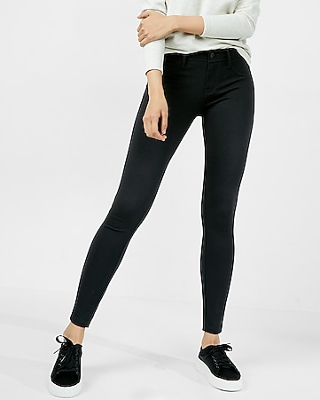 ponte knit five-pocket pant