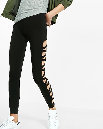 crisscross side sexy stretch legging