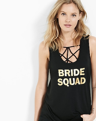 Express Womens Express One Eleven Bride Squad Tank