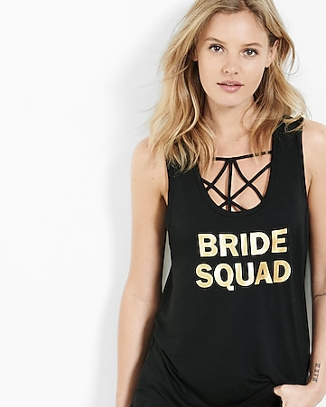 express one eleven bride squad tank
