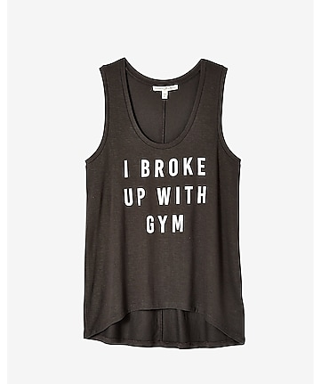 express one eleven broke up with gym graphic tank