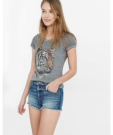express one eleven tiger face graphic tee