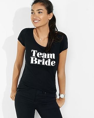 Express Womens Express One Eleven Team Bride Graphic Tee