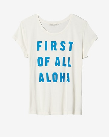 express one eleven first aloha boxy graphic tee