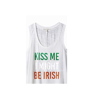 express one eleven kiss me graphic tank