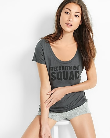 express one eleven recruitment squad graphic tee