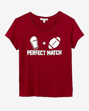 express one eleven perfect match boxy graphic tee