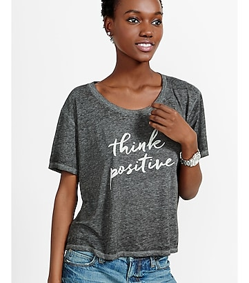 express one eleven think positive graphic tee
