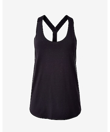 black EXP core y-back tank