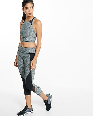 marled EXP core mesh inset sports bra