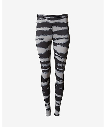 black tie dye EXP core compression legging