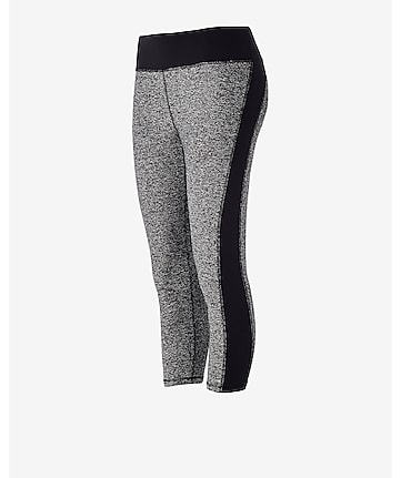 side stripe EXP core compression crop legging