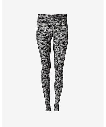 marled EXP core seamed compression legging