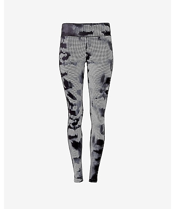 camo grid print EXP core compression legging