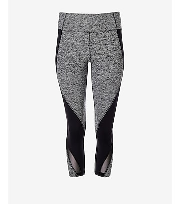 marled EXP core pieced crop legging