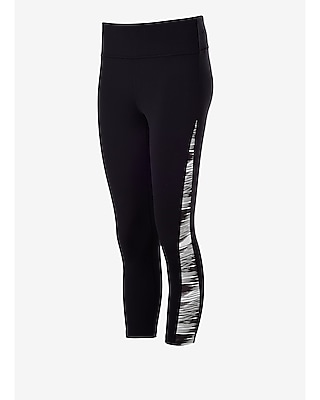 Express Womens Exp Core Pieced Crop Compression Leggings