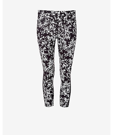 blurred print EXP core compression crop legging