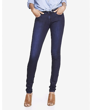 dark wash mid rise jean legging