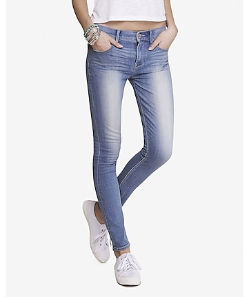 light mid rise jean legging