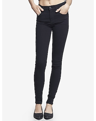 black high waisted jean legging