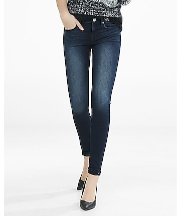 dark wash mid rise supersoft jean legging