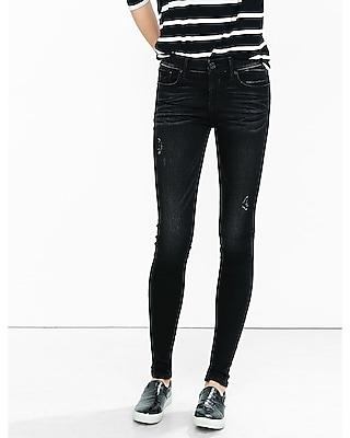 Express Womens Super Soft Black Mid Rise Jean Legging