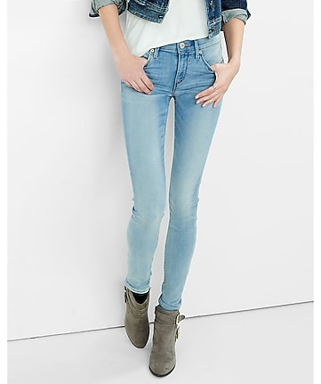 supersoft faded mid rise jean legging
