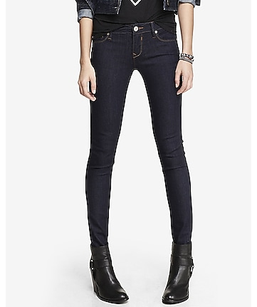 low rise jean legging