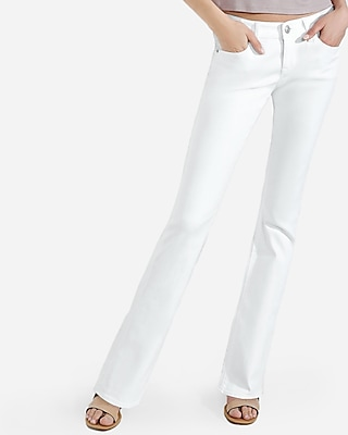 Express Womens White Low Rise Stretch Barely Boot Jeans