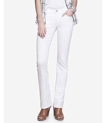 white low rise slim barely boot jean