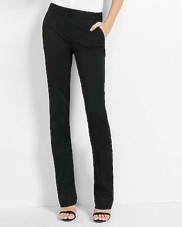 pitch black mid rise barely boot columnist pant