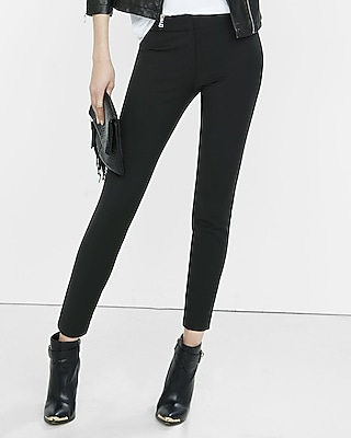 Express Womens Mid-Rise Extreme Stretch Skinny Pant Black 2
