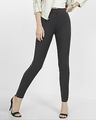 Express Womens Mid Rise Extreme Stretch Skinny Pant Gray 00