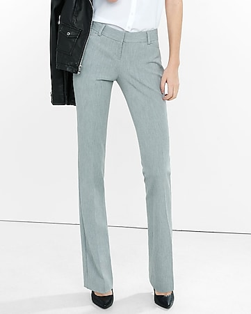 low rise heathered barely boot columnist pant