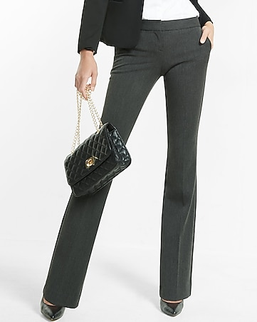 low rise slim flare columnist pant