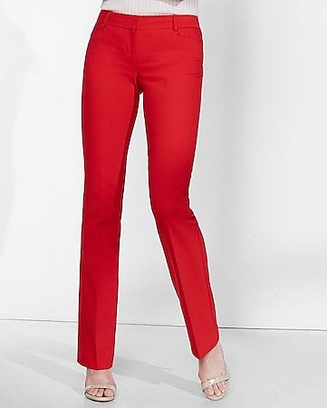 red barely boot columnist pant