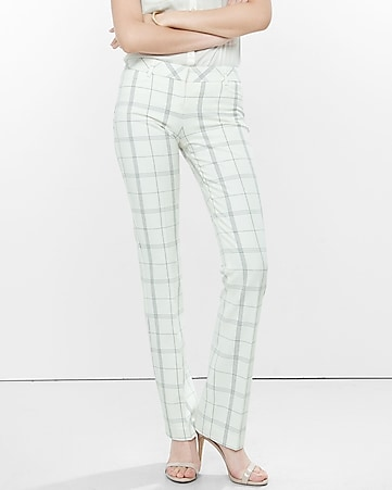 stitched windowpane barely boot columnist pant